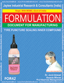 formula document for tyre puncture sealing inner compound