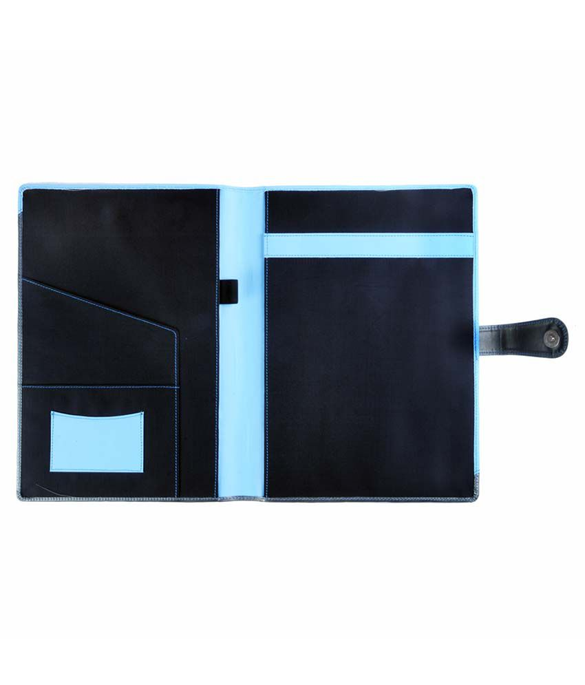 Black leather portfolio for documents and notepad