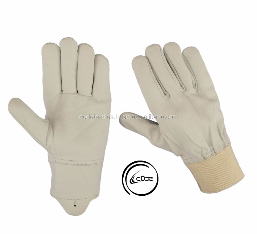 Driving Gloves, Grain sheepskin Leather Hunting Gloves for Motorcycle/Riding/Shooting/Car/Bus/truck