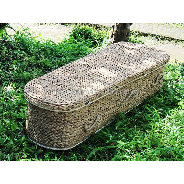 High Quality Handcrafted NATURAL WATER HYACINTH COFFIN