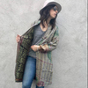 Vintage Silk Reversible Ethnic Designer Winter Wear Handmade Old Kantha Jacket ALWW007