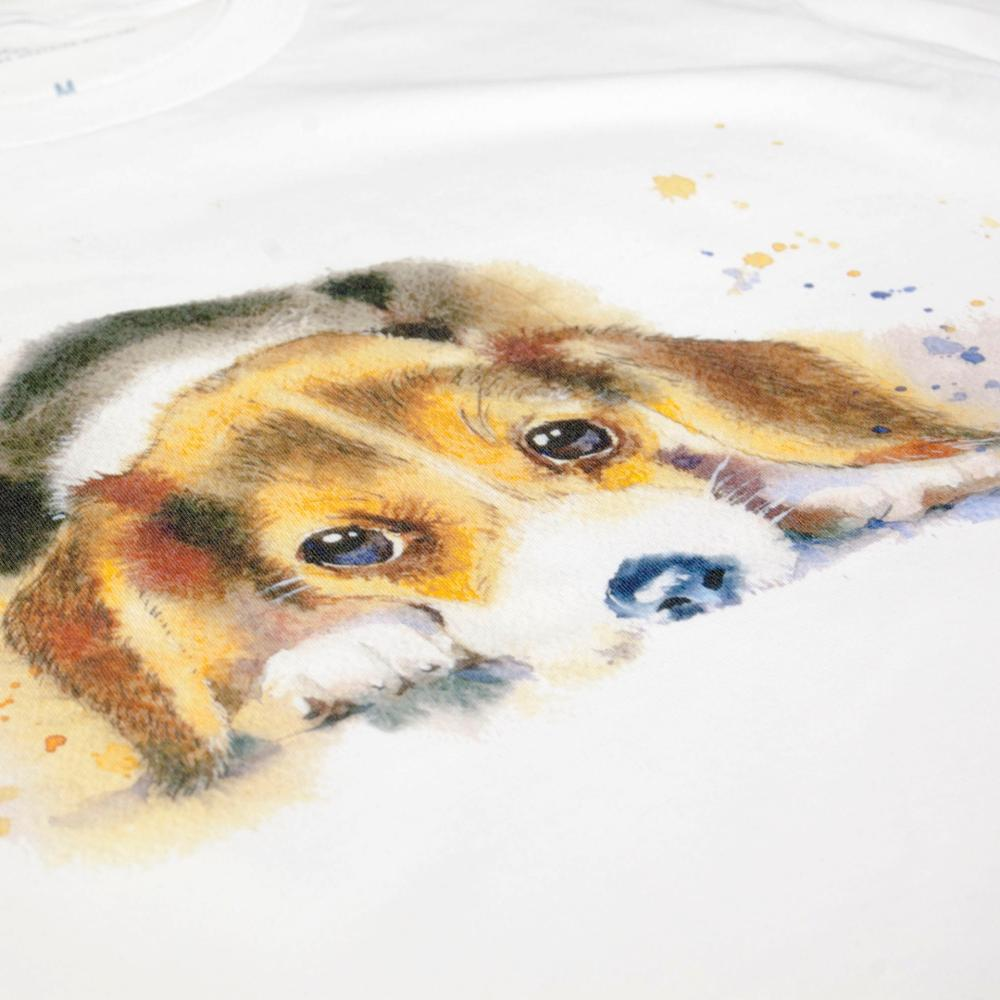 IGNMV Hush Puppy Water Color Painting T Shirt