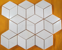 HOT SALES FOR MILKY WHITE MARBLE MOSAIC TILE