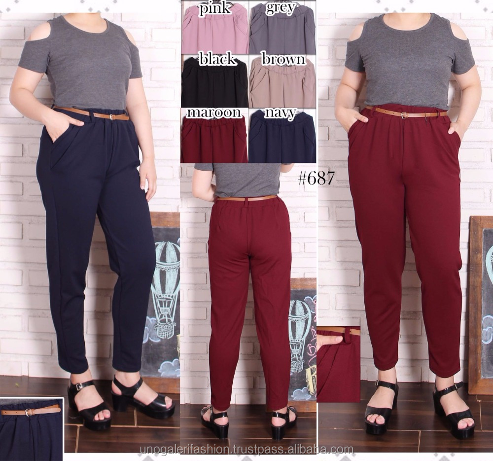 2018 culottes trousers women women's pants china wholesale fashion custom jumbo pencil