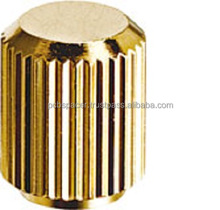 Knurled Nut stepped cap type, M=3, M=4, M=5, M=6 / Free-cut brass(C3604BD) Gold-plating(nickel substrate)