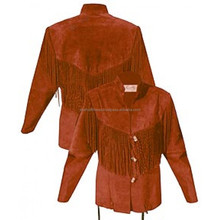 top qulity red Western women Leather Shirt Jacket