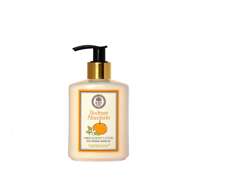 ORGANIC ARGAN OIL HAND AND BODY LOTION TANGERINE 250 ML