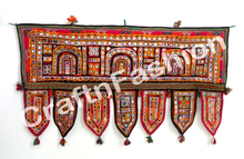 Vinatge Beaded Patch Toran -Multicolor Door Window Valance -Wholesale vintage toran -