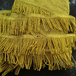 metallic New design curtain tassel fringe - decorative tassels fringe with trimming