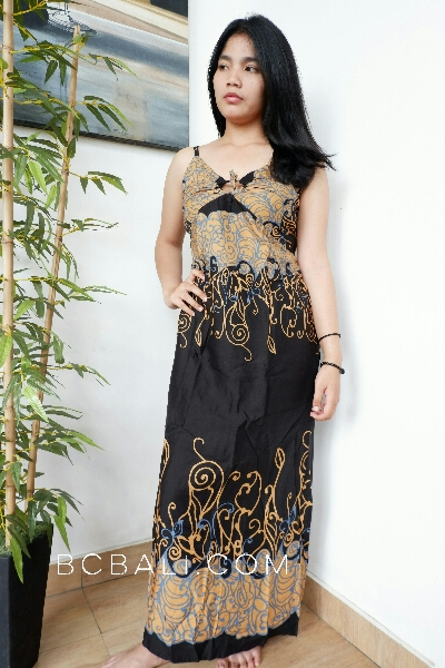 bali fashion batik rayon printing long dress clothes pattern design