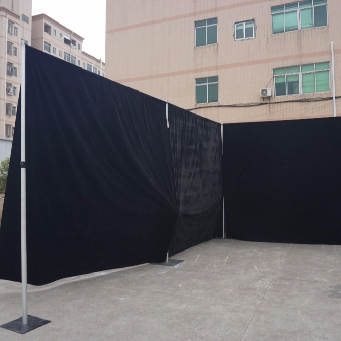 RK factory price Black Aluminum pipe and drape photo booth for exhibition