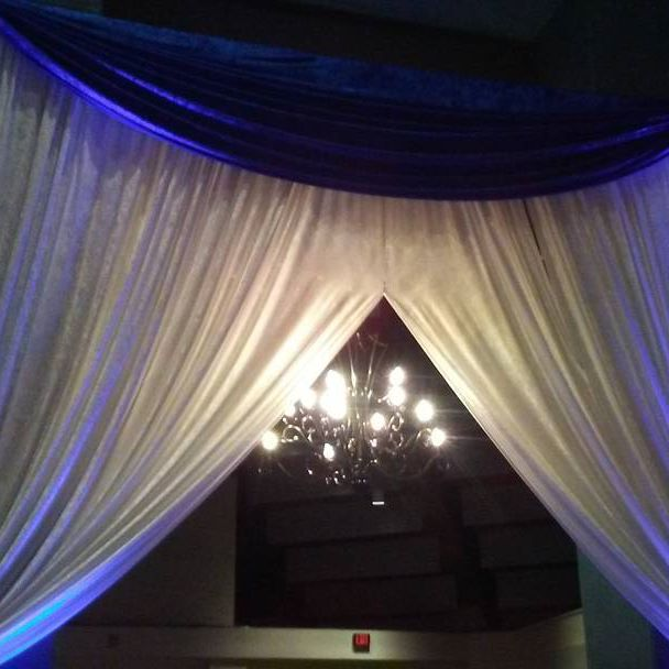 Adjustable Pipe and Drapes Wedding Party marquee Backdrop Exhibition Photo Trade Show Booth