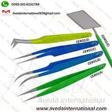 2017 New Style Different Colored Eyelash Extension Tweezers / Perfect Eyelash Tweezers for Lash portugal