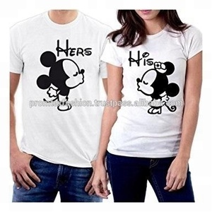 Custom Printed hot Couple T-Shirt