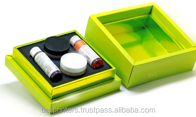 World class quality Lime green rigid box and largest no 1 selling products boxes from professional packaging india