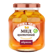 GLAVMED natural blossom honey with apricot from Russia