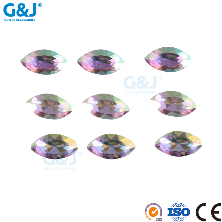 guojie brand factory custom design high quality pointback colorful yiwu factory productionresin stone