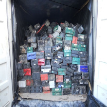 USED Waste Auto, Car battery, Drained lead battery scrap for sale .