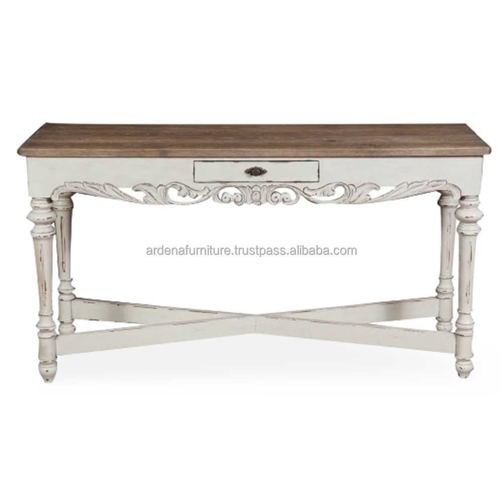 French Style Console Table with Drawer - Indonesia furniture manufacturer