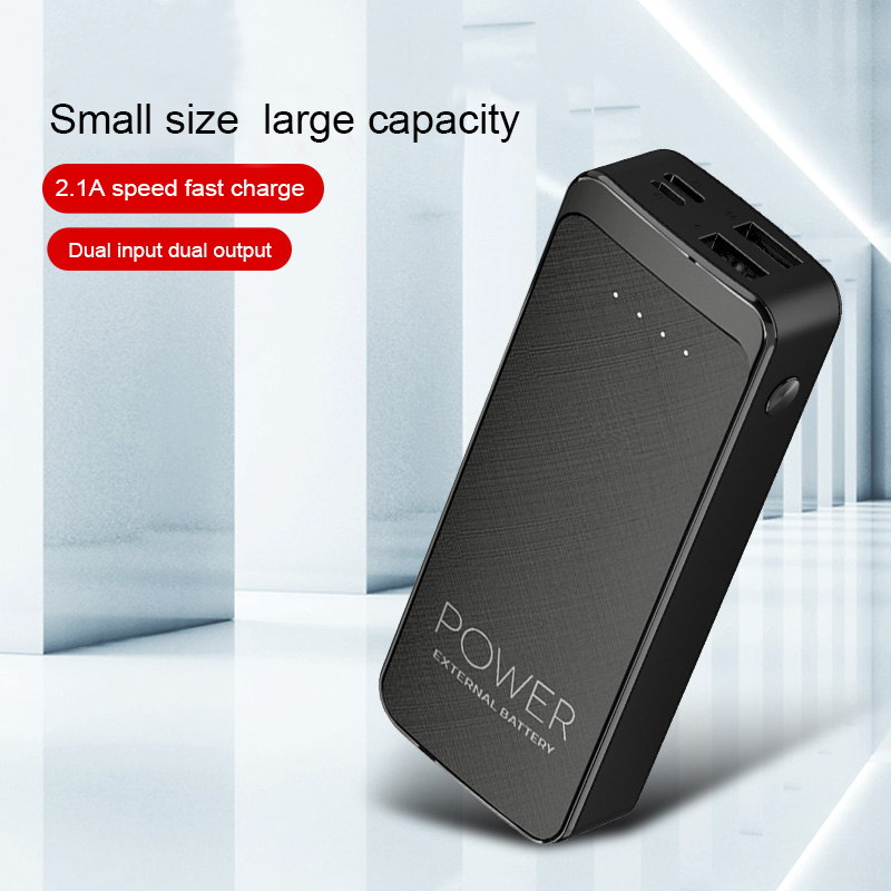 Power Bank Charger Black <strong>10</strong>,000mAh with Micro-USB and USB-Type <strong>C</strong>