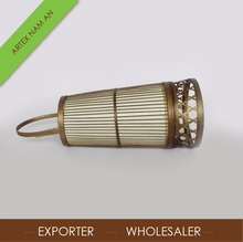 Best selling bamboo heavenly lantern , candle lantern antique finish