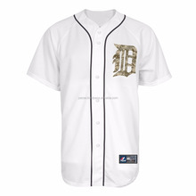 Wholesale blank white softball / baseball jersey for ball game for sale