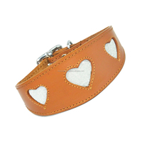 High Quality Italian Leather Pet Collars For Large Dogs