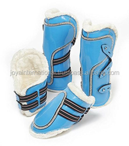 PATENT HORSE BRUSHING BOOTS, HORSE BRUSHING BOOTS, fancy horse brushing boot ,