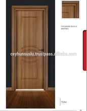 Affordable Price Waterproof Turkish Manufacture Pvc Coated WPC Door