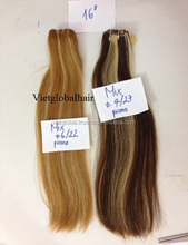 5a 14 inches vietnamese cheap human hair weaving vietnamese mixed color hair weave extensions