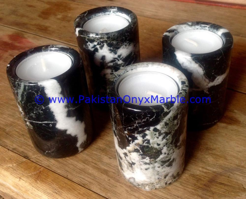 MARBLE CANDLE HOLDERS CYLINDER SHAPED STANDS