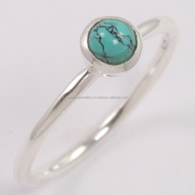 TURQUOISE (S) 925 Sterling Silver Cute Ring, 2017 Fashion Gemstone Jewelry, Manufacture 925 Silver Jewelry