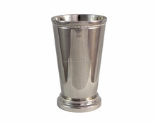 Pure Brass Julip Cup Shiny Silver Plated Mint Julep Cup