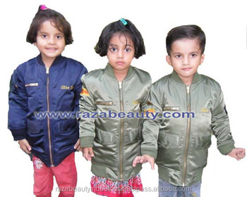 MA1 Kids Bomber Jackets / Kids Flight Jackets / Kids Nylon Pilot Jackets