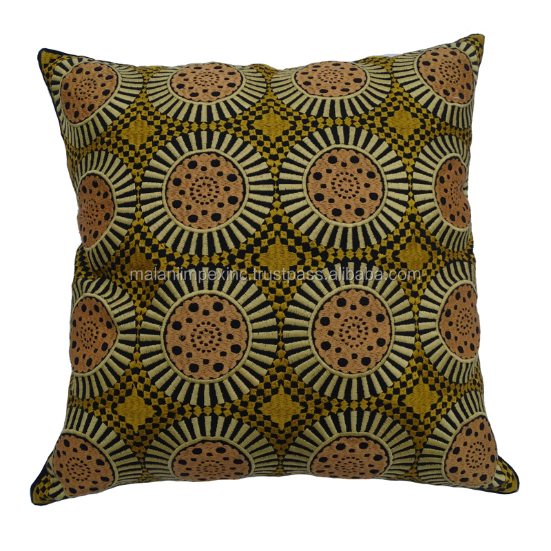 Latest designed Indian kilim style ethnic custom throw cushion cover for home decoration
