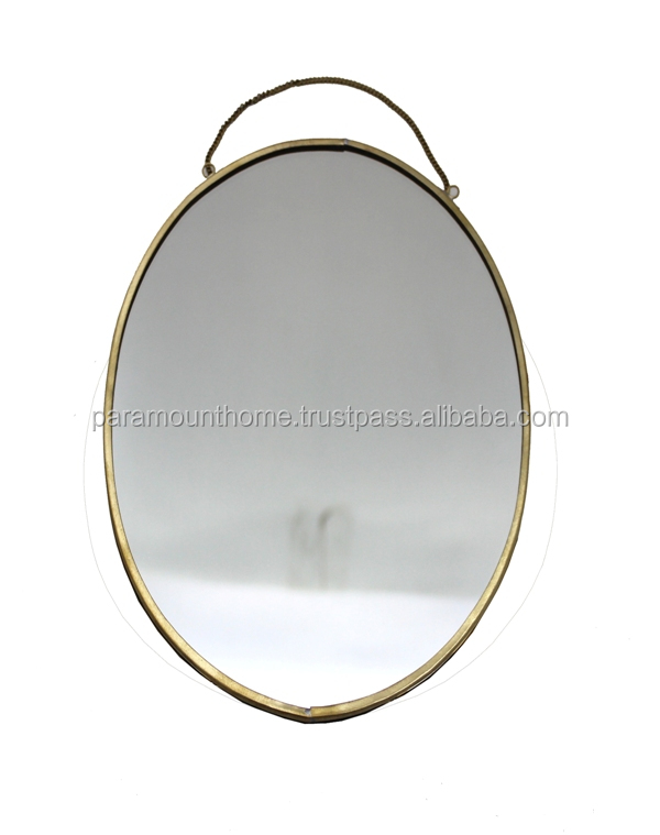 HANGING OVAL MIRROR FRAME