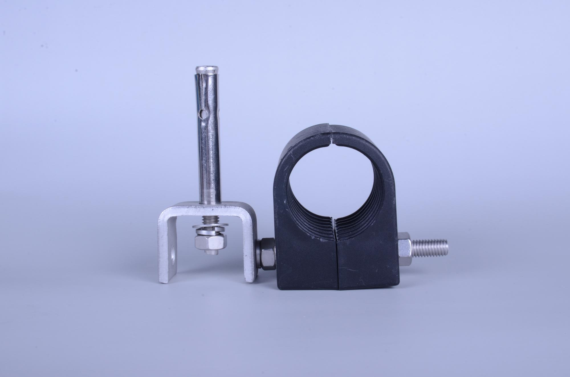 feeder cable clamp/fiber optical cable and power cable clamp