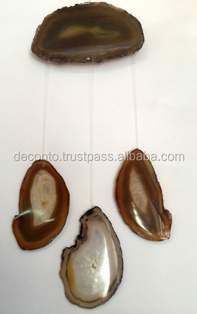 Agate Slice Wind Chimes 4 pieces, Home Decor,