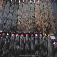 2017 Best price high quality 100% human vrigin remy hair bulk and weft Hair