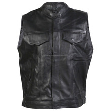 Leather Vest / Leather Vest Motorcycle / Leather Biker Vest
