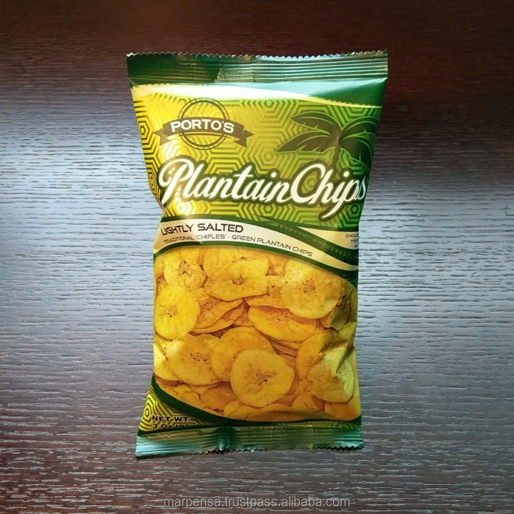 Green banana / Plantain Chips snack / Crispy healthy chips