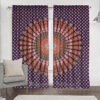 Decorative Indian Mandala Curtain Kitchen Window Curtains Drape Panel Sheer Valance