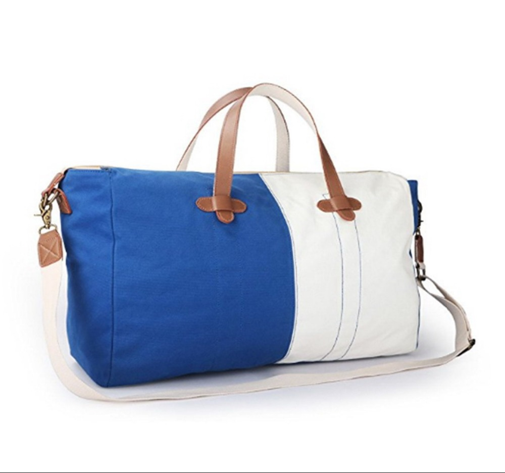 Canvas PU leather travel tote bag Wholesale canvas tote bag Handbag Leather hand bag Leather handbag Tote bag cotton (KL37081)