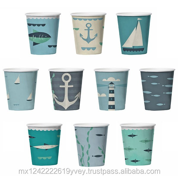 Fully Customizable Disposable Paper/Plastic Cups for coffee, beer or other beverage uses