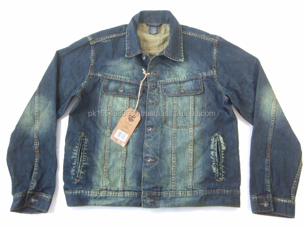 ROCAWEAR 477 RAW VINTAGE BLUE JEANS JACKET