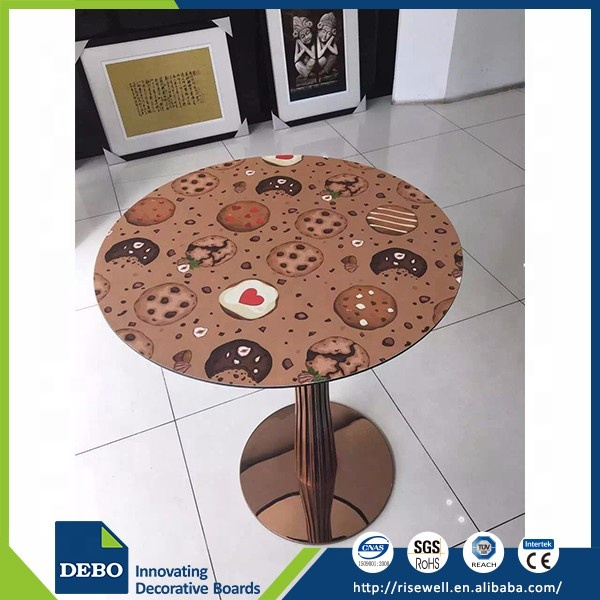 Debo Customized Color /size and Indoor Application made in China compact laminate tabletop