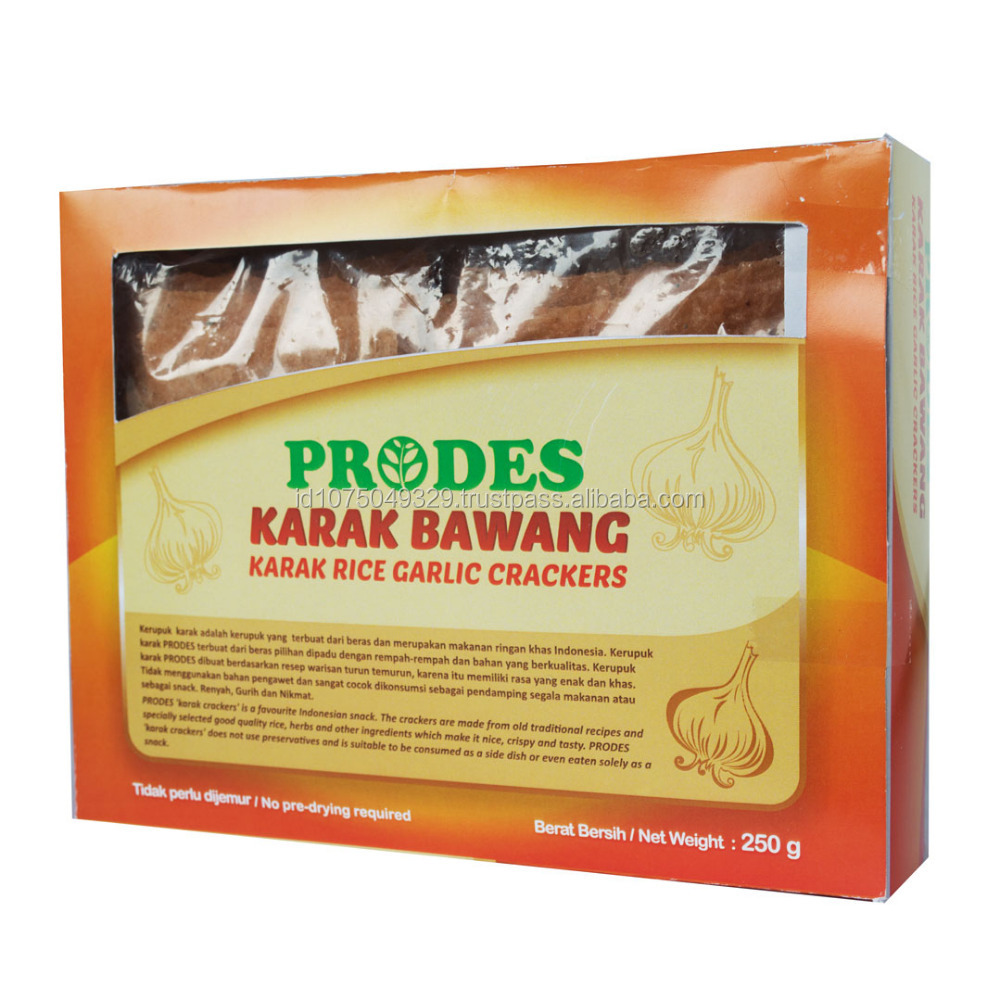 PRODES UNCOOKED KARAK RICE CRACKERS (HOT,FISH,GARLIC) FLAVOUR