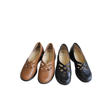Genuine leather shoes wholesale, slip on shoes women made in Japan