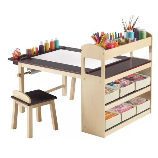 No.2502 Factory Hot Selling Kids <strong>3</strong> Piece Arts and Crafts Table and Stool Set