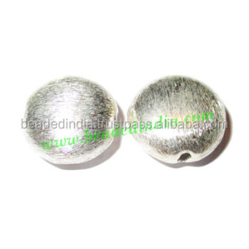 Silver Plated Brushed Beads, size: 13x14x8mm, weight: 1.74 grams. BMSPBR010